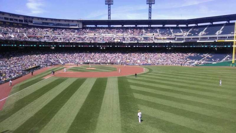 Seating view for PNC Park Section 143 Row J Seat 14