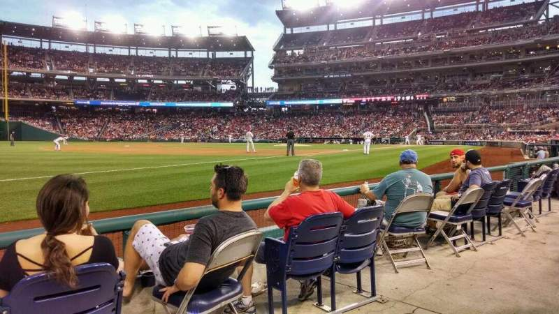 Seating view for Nationals Park Section 112 Row D Seat 20