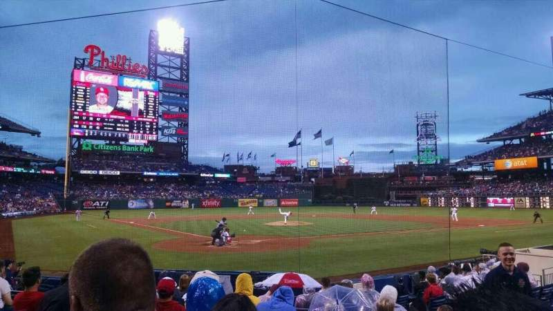 Seating view for Citizens Bank Park Section E Row 12 Seat 6