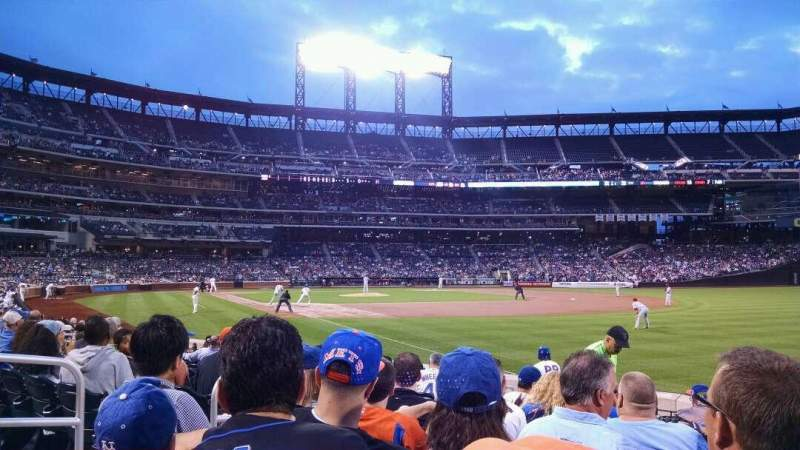 Seating view for Citi Field Section 107 Row 7 Seat 6