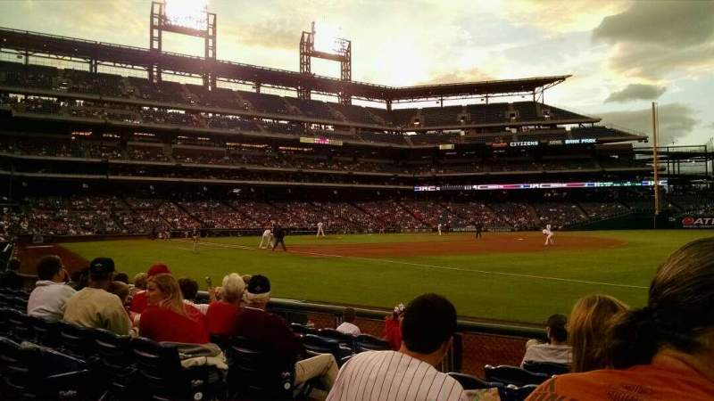 Seating view for Citizens Bank Park Section 111 Row 7 Seat 8