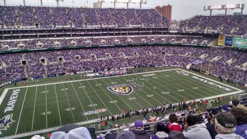Seating view for M&T Bank Stadium Section 529 Row 8 Seat 10