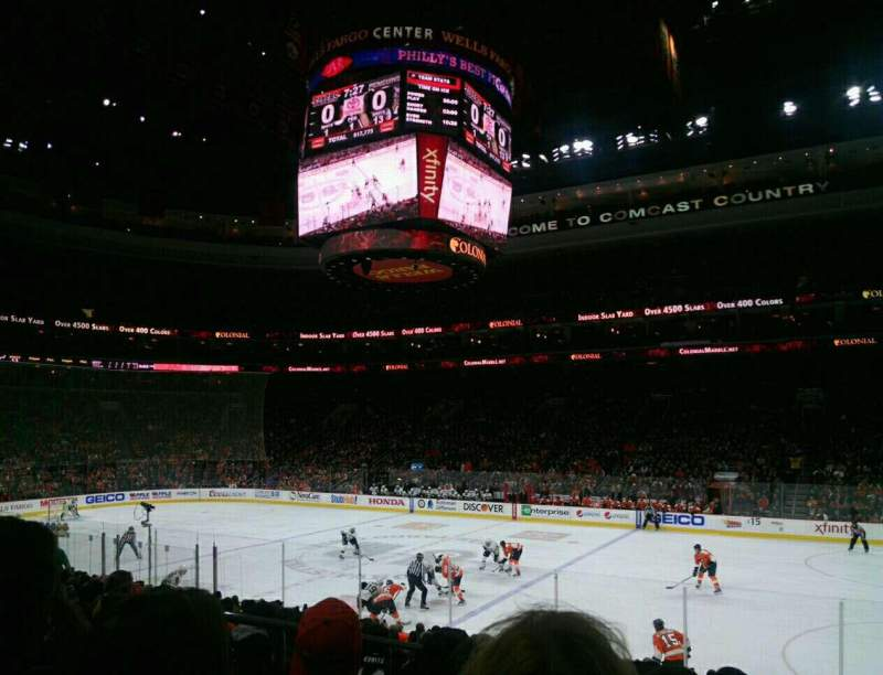 Seating view for Wells Fargo Center Section 115 Row 16 Seat 4