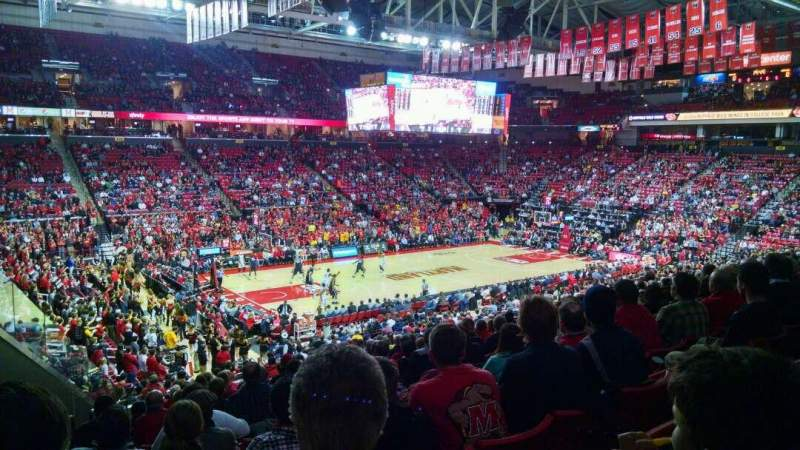 Seating view for Xfinity Center (Maryland) Section 125 Row 18 Seat 18