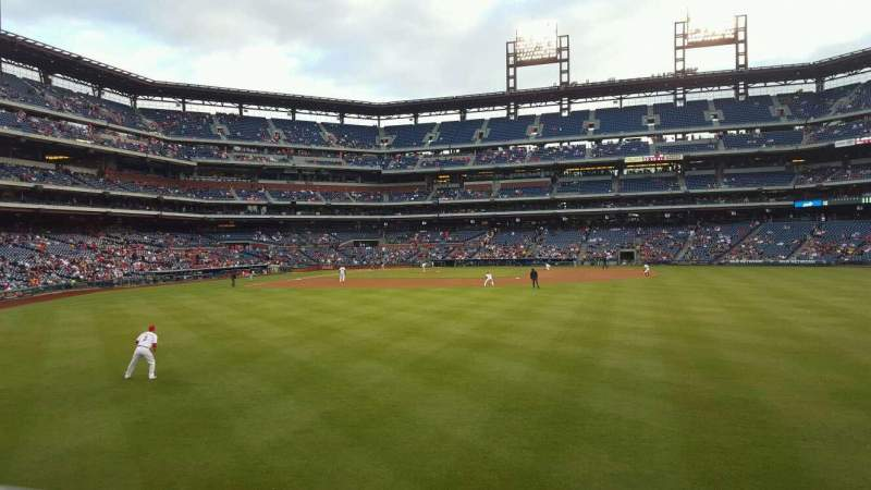 Seating view for Citizens Bank Park Section 103 Row 1 Seat 15