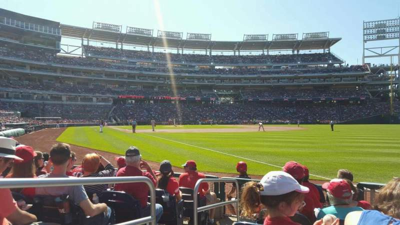 Seating view for Nationals Park Section 136 Row G Seat 12