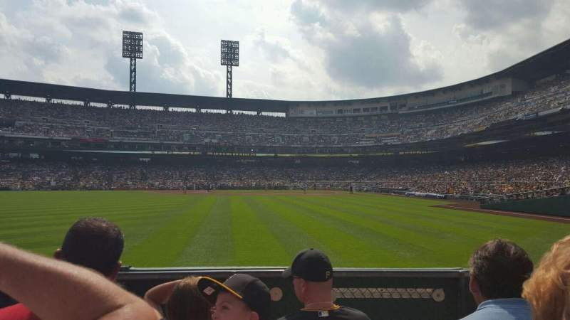 Seating view for PNC Park Section 135 Row D Seat 17