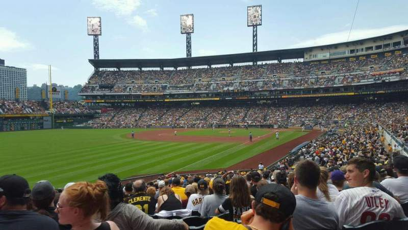 Seating view for PNC Park Section 131 Row T Seat 13