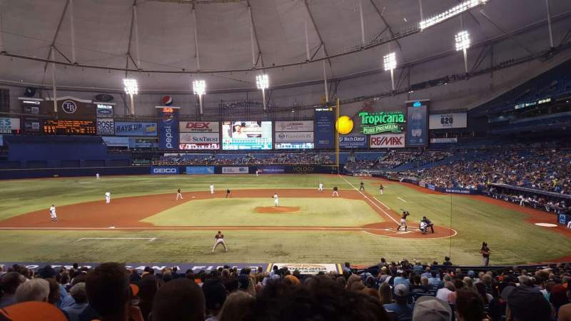 Seating view for Tropicana Field Section 111 Row GG Seat 8