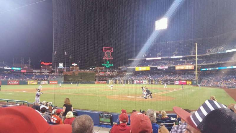 Seating view for Citizens Bank Park Section C Row 10 Seat 11