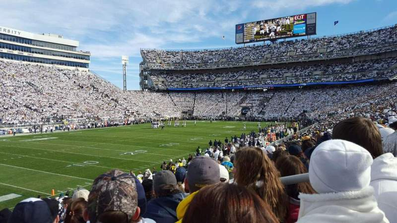 Seating view for Beaver Stadium Section NA Row 24 Seat 13
