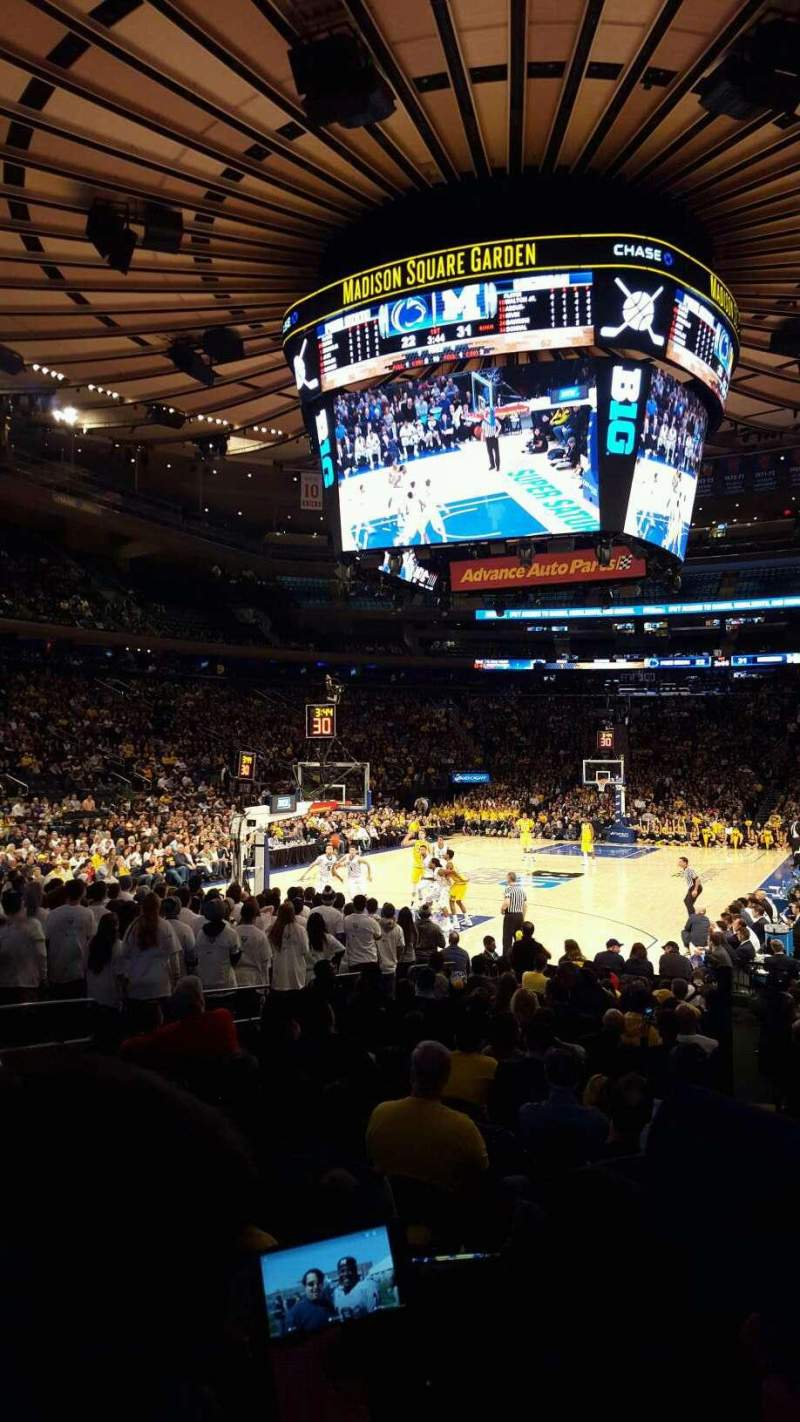 Seating view for Madison Square Garden Section 103 Row 7 Seat 14