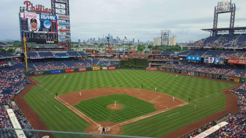 Seating view for Citizens Bank Park Section 320 Row 2 Seat 4