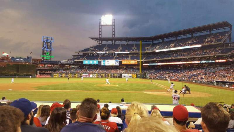 Seating view for Citizens Bank Park Section 129 Row 9 Seat 2