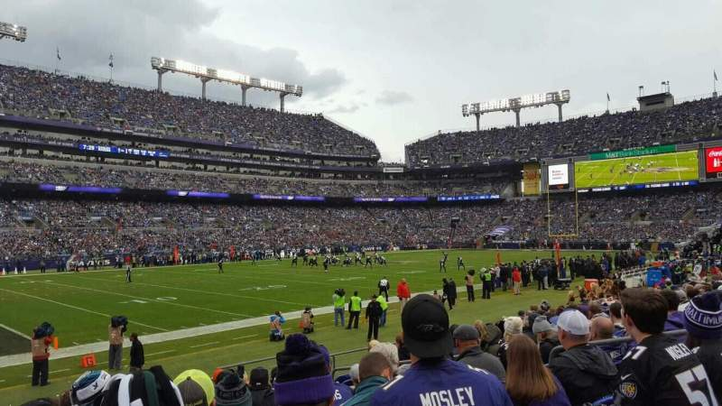 Seating view for M&T Bank Stadium Section 132 Row 11 Seat 8