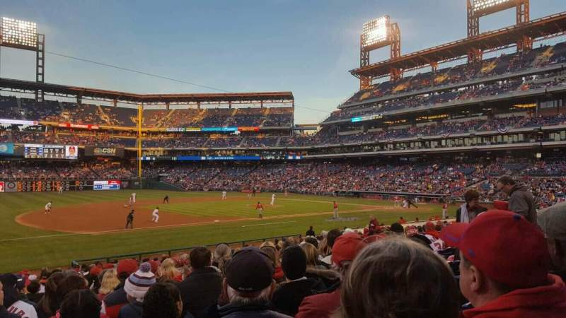 Seating view for Citizens Bank Park Section 133 Row 23 Seat 13