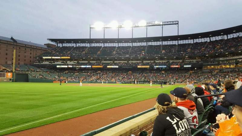 Seating view for Oriole Park at Camden Yards Section 68 Row 2 Seat 7