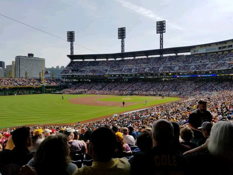 Seating view for PNC Park Section 130 Row DD Seat 5