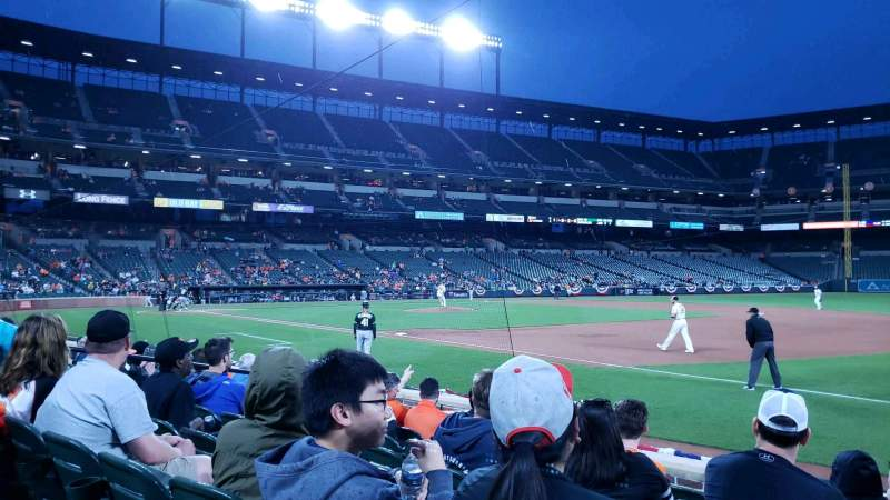 Seating view for Oriole Park at Camden Yards Section 14 Row 7 Seat 6