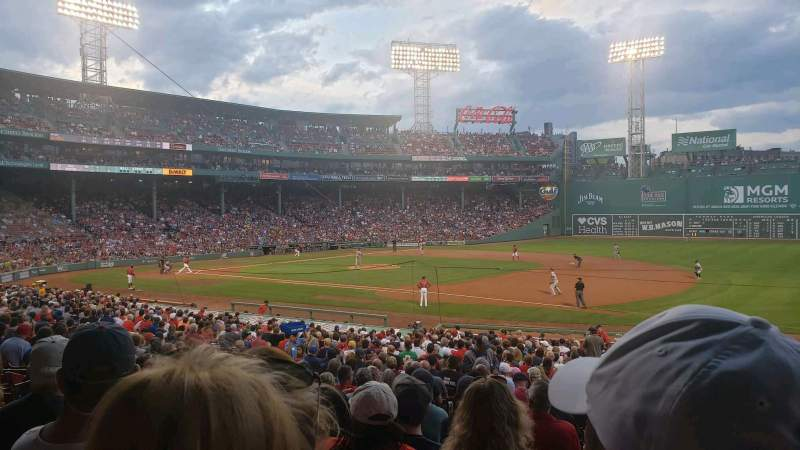 Seating view for Fenway Park Section Loge Box 104 Row RR Seat 1