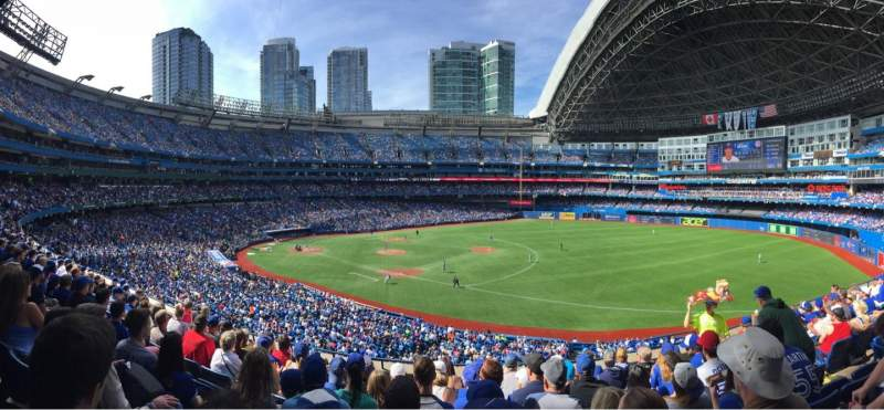 Seating view for Rogers Centre Section 214L Row 9 Seat 105