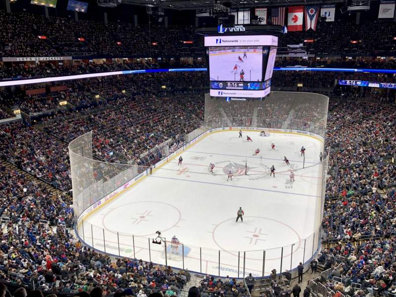 Seating view for Nationwide Arena Section 223 Row H Seat 5