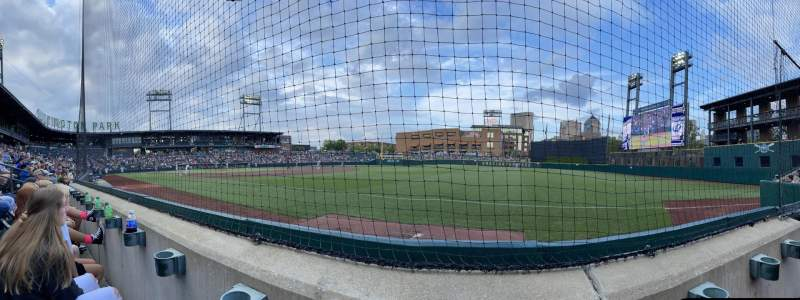 Seating view for Huntington Park Section 3 Row 1 Seat 3