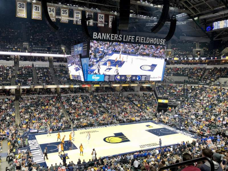 Seating view for Gainbridge Fieldhouse Section 106 Row 9 Seat 4