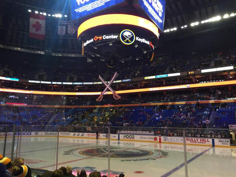 Seating view for KeyBank Center Section 116 Row 7 Seat 11