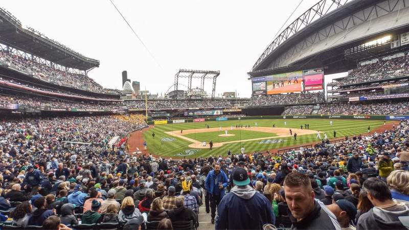 Seating view for Safeco Field Section 128 Row 36 Seat 1