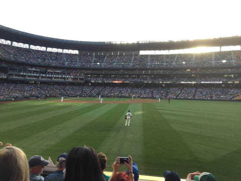 Seating view for T-Mobile Park Section 107 Row 27 Seat 13