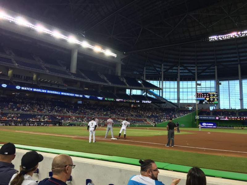 Seating view for Marlins Park Section FL3 Row DD Seat 3