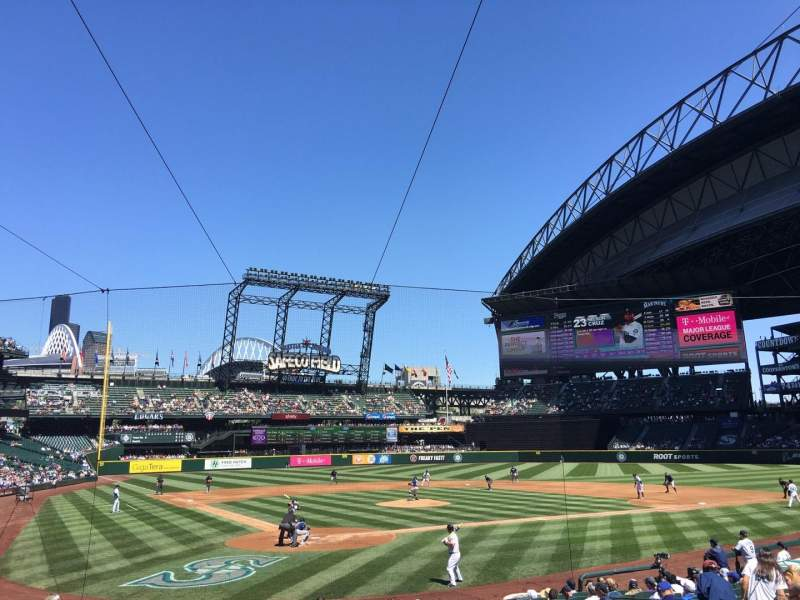 Seating view for Safeco Field Section 127 Row 19 Seat 9