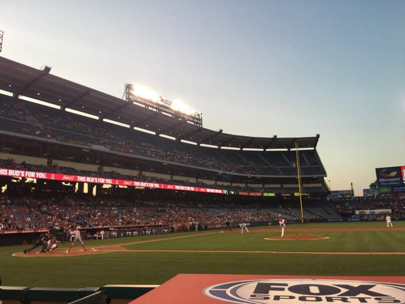 Seating view for Angel Stadium Section F124 Row D Seat 11