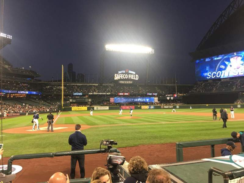Seating view for Safeco Field Section 25 Row G Seat 3