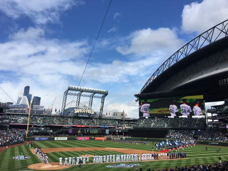 Seating view for Safeco Field Section 126 Row 33 Seat 11