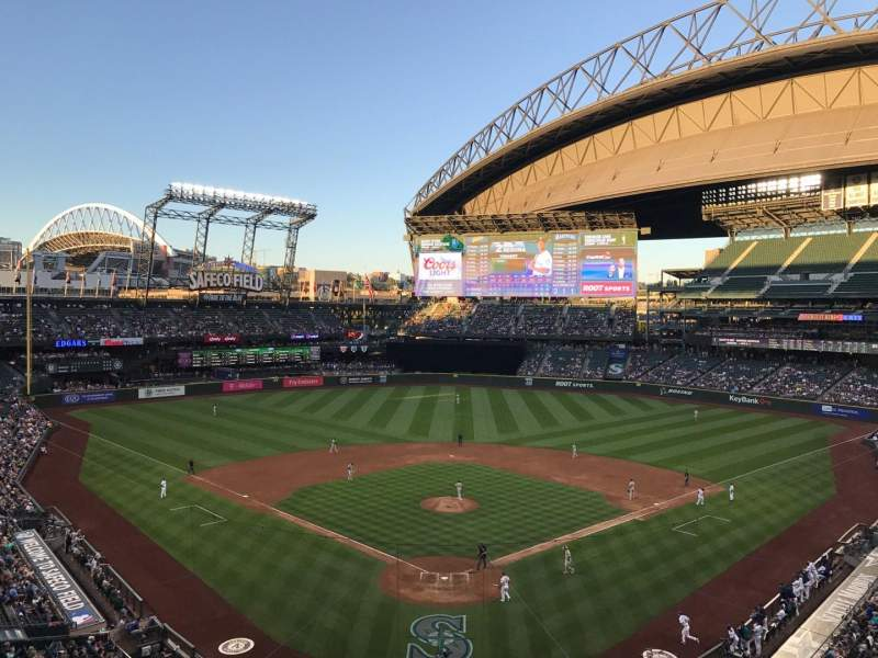 Seating view for Safeco Field Section S35 Row 1 Seat 7