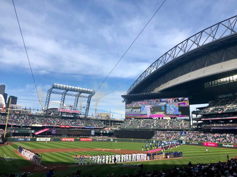 Seating view for T-Mobile Park Section 127 Row 27 Seat 1