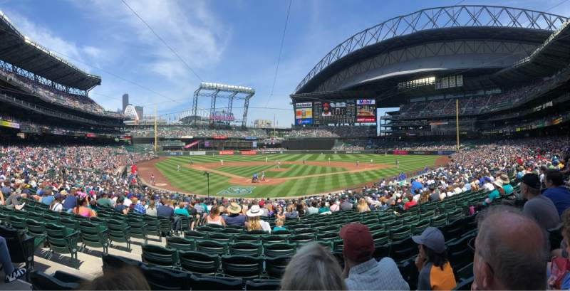 Seating view for T-mobile Park Section 128 Row 28 Seat 11