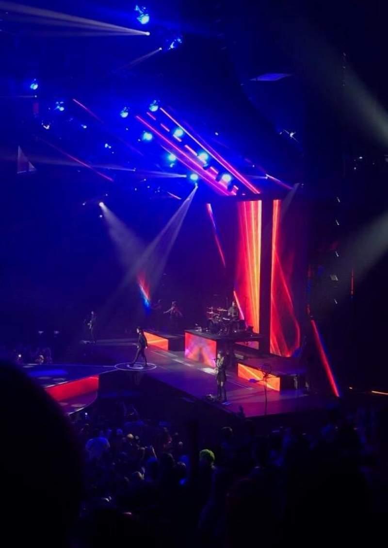 Infinite Energy Arena, section: 107, row: T, seat: 5