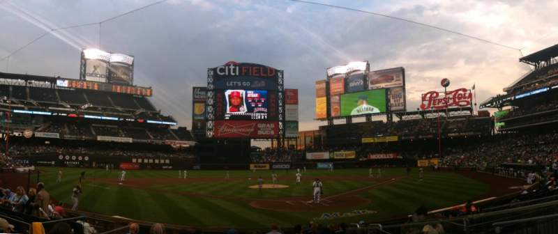 Seating view for Citi Field Section 16 Row 12 Seat 5