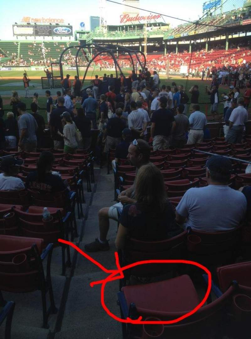 Seating view for Fenway Park Section 23-FB50 Row G Seat 5