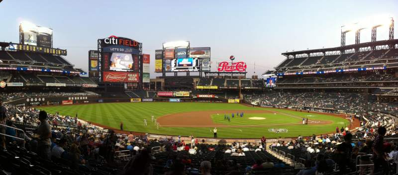 Seating view for Citi Field Section 122 Row 29 Seat 6