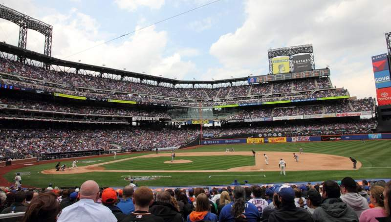 Seating view for Citi Field Section 113 Row 18 Seat 3