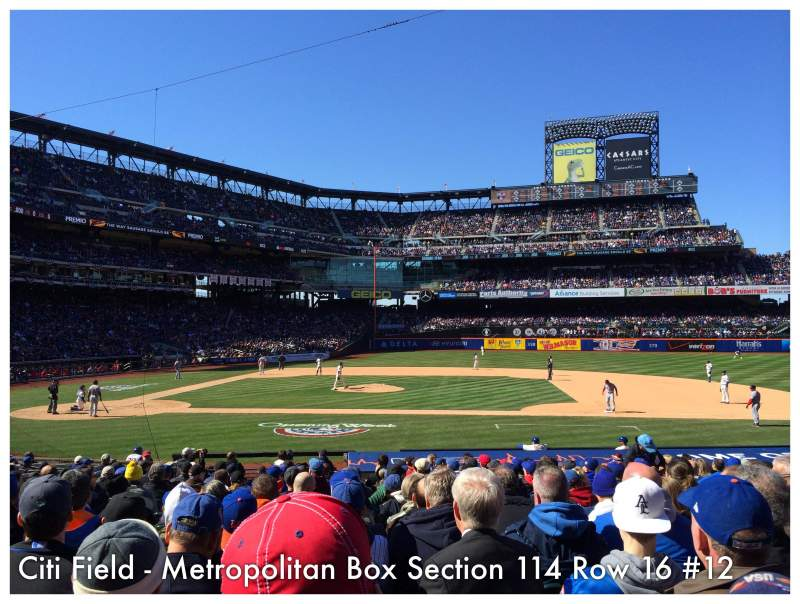 Seating view for Citi Field Section 114 Row 16 Seat 12