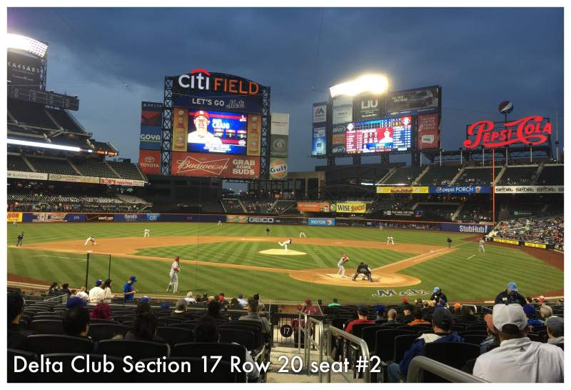 Seating view for Citi Field Section 17 Row 20 Seat 2