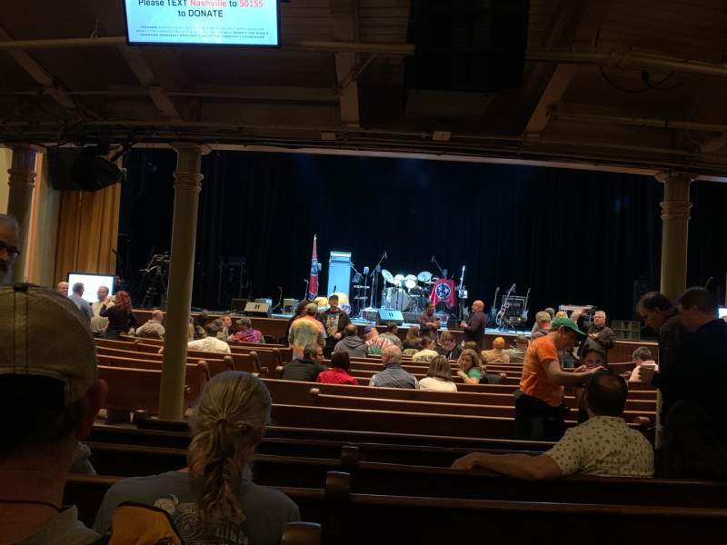 Seating view for Ryman Auditorium Section MF-4 Row S Seat 6