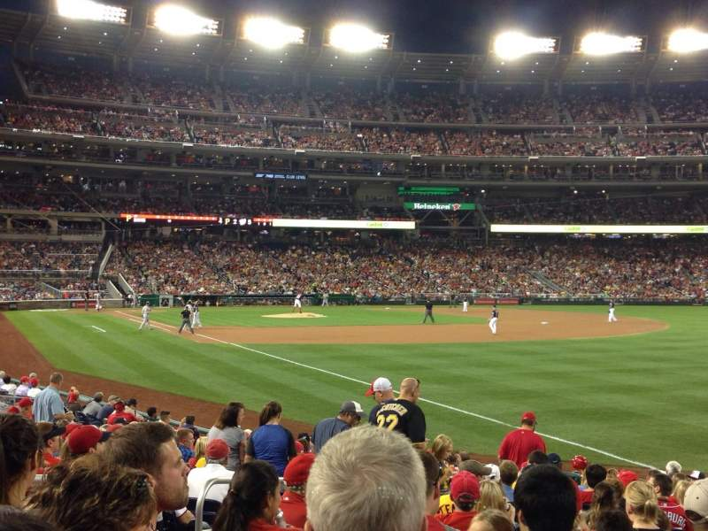 Seating view for Nationals Park Section 136 Row U Seat 14