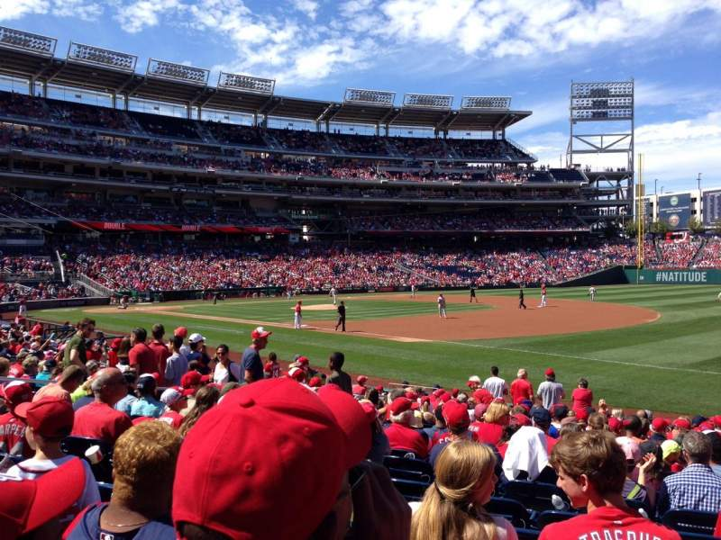 Seating view for Nationals Park Section 133 Row V Seat 7