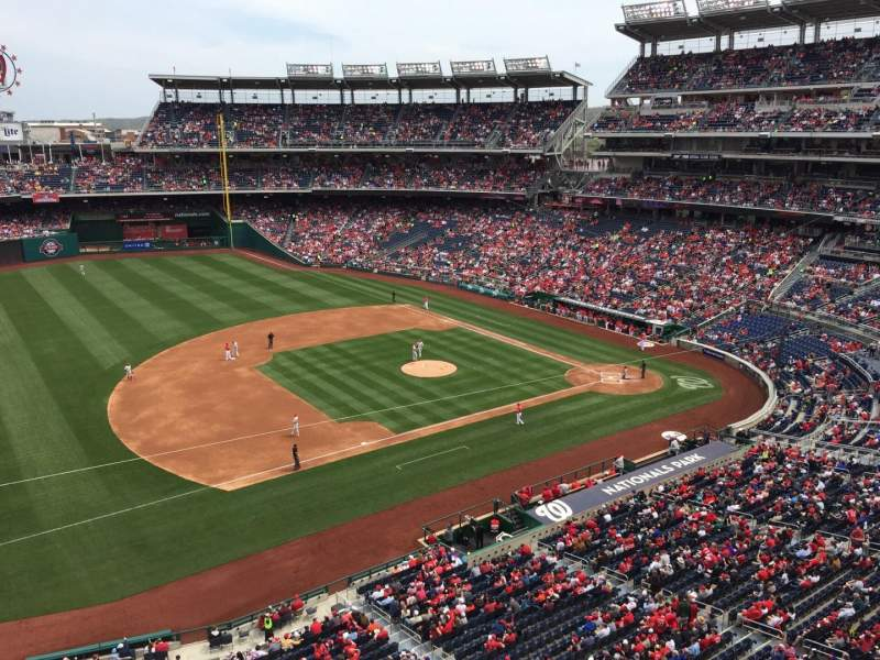 Seating view for Nationals Park Section 306 Row A Seat 14